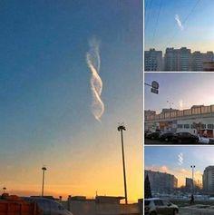 Nuvens MISTERIOSAS no Mundo!! O que é isso? DNA? (MENSAGEM EXTRATERRESTRE)?