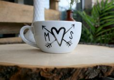 declare your love with an adorable initialed teacup! | the apothecary bee. #ilovetea #teacup #truelove