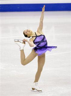 Laura Lepisto- Purple Figure Skating / Ice Skating dress inspiration for Sk8 Gr8 Designs.