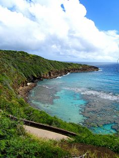 Hanauma Bay, Hawaii, excellent snorkeling in this coral reef