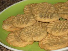 3 Ingredient Peanut Butter Cookies - 3 WW Points plus each for 20 servings. I love peanut butter cookies!