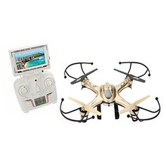 Goolsky JJRC Drone with FPV Camera Live Vedio 03MP Realtime 24Ghz 4CH 6Axis Gyro UFO Quadcopter -- Click on the image for additional details.