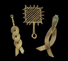 Gold Weight in Geometric form with One Twist | Ghana, Asante peoples | Early to mid-20th century | Bronze (copper alloy)