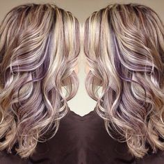 "23 Likes, 1 Comments - A Touch Of Color Makeup & Hair (@atouchofcolormakeup) on Instagram: ""Today's hair inspiration! Blonde with eggplant infusion. I love this!! I think this is going to be…"""