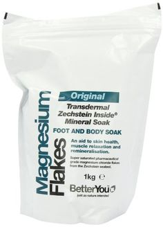 BetterYou Magnesium Foot and Body Soak Flakes - for sale online Magnesium Bath, Magnesium Chloride, Magnesium Flakes, Bath Melts, Body Lotions, How To Better Yourself, Health Tips, Uk Health, Creative