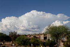 Monsoon clouds overlooking Fountain Hills, AZ 85268 near Fountain Park.  Capella Eyecare photos.