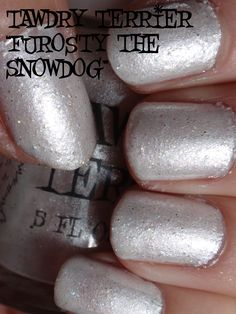 "@TawdryTerrier ""Furosty the Snowdog"" in the sun - only 1 bottle available at https://www.etsy.com/shop/TawdryTerrier #nailpolish #indienailpolish #christmas #tawdryterrier"