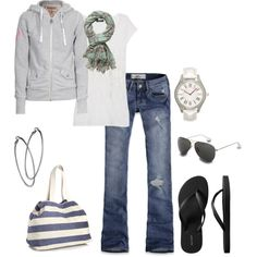 All my favorite colors in one outfit...! Especially love the scarf and the bag with the grey.