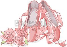 """""""Beautiful ballet slippers"""" - Girl's Room Decor Posters and Prints Available at Barewalls.com"""