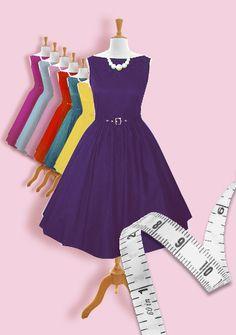 Audrey swing dress custom made