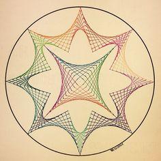 #mulpix #geometry #mathart #mandala #symmetry #star #string #art #structure #circle #disk #handmade #square #ink #progression #evolution #Escher #sacredgeometry