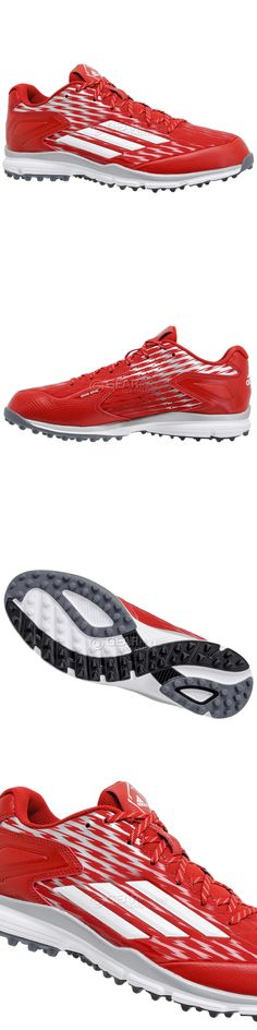 Mens 159059: New Adidas Power Alley 3 Turf Mens Baseball Shoes Trainers :  Red -