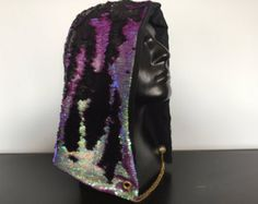 Reversible Sequin Mermaid Pearl Purple Black by FestWorthy on Etsy Festival Gear, Festival Costumes, Rave Festival, Festival Outfits, Purple And Black, Blue And Silver, White Blazer Women, Rainbow Serpent, Mermaid Sequin