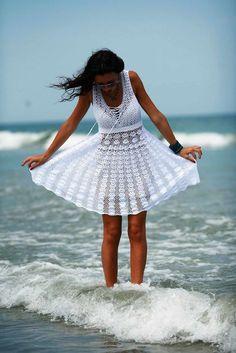 Free crochet patterns and video tutorials: How to crochet summer dress free pattern