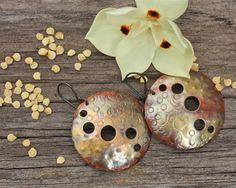 Copper earrings Copper jewelry Rustic earrings by FlowerOfParadise http://etsy.me/1NBvO4Z #etsyspecialT #integrityTT #etsysocial