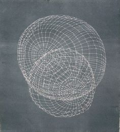 Sphere Studies 12.1, by Anna Hepler  (photogravure on Hannemule copperplate paper - part of her series called 'Isaac Newton, Laws of Motion, I), 2006