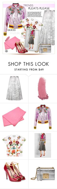 """""""Metallics & pleats please.."""" by fashionlibra84 ❤ liked on Polyvore featuring Gucci"""