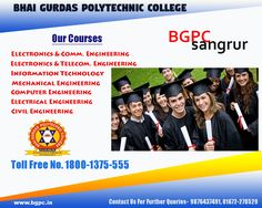 A bright future awaits a bunch of creative engineers! Hurry up..!! Admissions Open for Session 2017 Explore your study options at:  www.bgpc.in #bhaigurdas #AdmissionsOpen2017  #ApplyNow #ECE #ETE #IT #CE #ME #CIVIL For Queries Call: 1800-1375-555