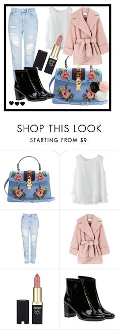 """•••"" by felsod ❤ liked on Polyvore featuring Gucci, Chicwish, Topshop, Carven, L'Oréal Paris, Yves Saint Laurent, GUESS, cute, pastel and saintlaurent"