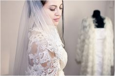 FREEE Shipping Royal alecon lace wedding veil ivory от LuxuriaFata