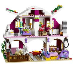 These like so much fun! LEGO Friends Sunshine Ranch Set with Horses and Lego Design, Cool Lego, Cool Toys, Legos, Best Lego Sets, Lego Friends Sets, Lego Toys, Lego Lego, Lego Batman