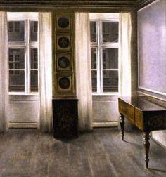 Drawing Room The Four Copper Prings - Vilhelm Hammershoi