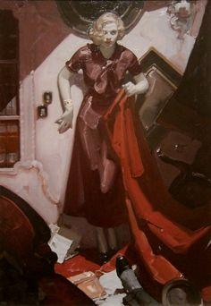 "Mead Schaeffer / ""Hide the Body / Cosmopolitan 1933 / my favorite Schaeffer painting /"
