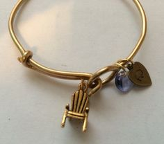 Wire bangle bracelet Russian gold adirondack chair lawn chair Alex and Ani inspired