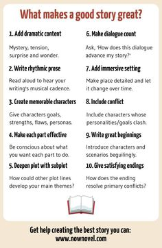 What makes a good story? 10 elements writing advice советы п Writing Promps, Script Writing, Book Writing Tips, English Writing Skills, Writing Characters, Writing Words, Writing Resources, Writing Help, Dialogue Writing