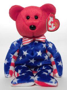 01741f5d8e8 Liberty (red head) - Bear - Ty Beanie Babies Rare Beanie Babies