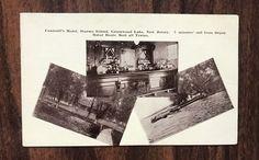 Greenwood Lake, NJ Scarce 1915 Postcard Counsell's Hotel & Bar, Storms Island