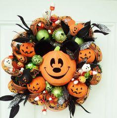 Halloween Mickey Wreath; LOVE it!