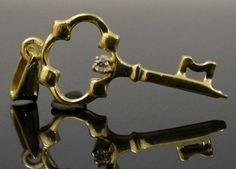 18Carat Yellow Gold Key Pendant / Charm 31mm Length  https://www.jollysjewellers.com/product/18carat-yellow-gold-key-pendant-charm-31mm-length/