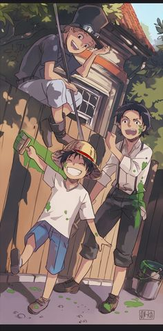Sabo, Luffy, and Ace _One Piece