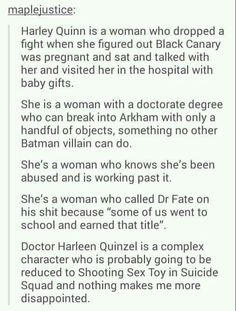 That is sad... <--- Extremely so! Harley is so much more and so much better than that!!