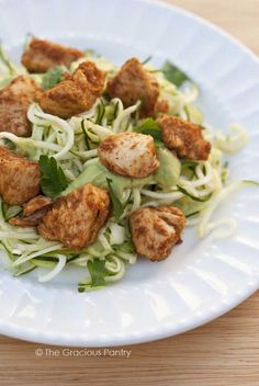 Clean Eating Taco Chicken Zucchini Pasta #CleanEating #Dinner #DinnerIdeas
