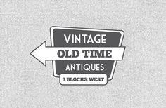 Free Vector Vintage Signs #vector