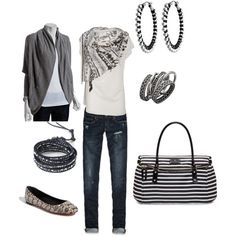 I really like this outfit. Gray is everywhere these days!