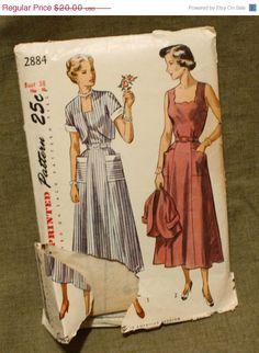 Spring Sale UNCUT Simplicity 2884 Vintage by EleanorMeriwether, $17.00