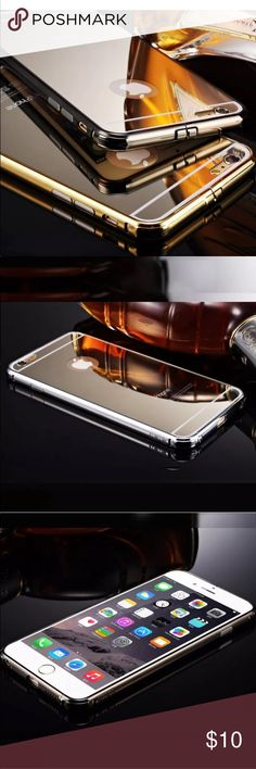 IPhone 6 & 6S and 6S Plus aluminum Cases 3 colors. Please let me know what color you want👍🏼 and what phone you have.  Luxury Golden mirror Aluminum metal iPhone 6 6s plus case * 100% Brand New. Colors: Black, gold and silver.   * There's two parts to the case. Aluminum bumper and Hard Back. * Protect your phone from dust, scratching and shock.  * This case and protector can reduce the chance of signal loss. * Provides a comfortable grip,added protection against accidental drops. All…