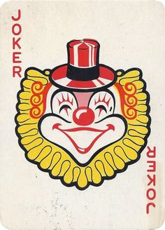 Joker of the Day Unique Playing Cards, Playing Cards Art, Joker Playing Card, Joker Card, Joker Photos, Jokers Wild, Clown Faces, Tattoo Flash Art, Send In The Clowns