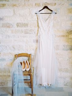 Sarah Janks wedding dress: http://www.stylemepretty.com/little-black-book-blog/2014/10/31/intimate-sunstone-villa-wedding/   Photography: Khanh Hogland - http://www.khanhhogland.com/