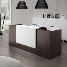Reception Desks - Contemporary and Modern Office Furniture 97 x 35 $2400 + delivery and installation