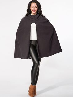 Hooded Plain Snap Front Cape Only $22.95 USD More info...