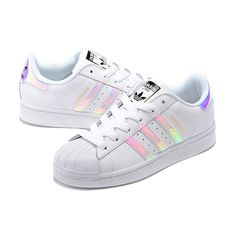 Adidas Superstar Junior Laser Bright Shoes Silver White