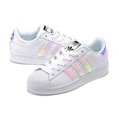 Adidas Superstar Junior Laser Bright Shoes Silver White