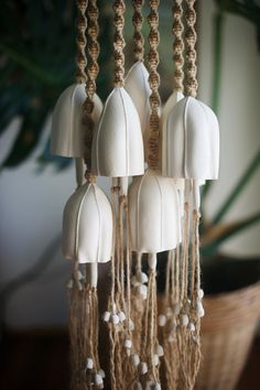 Ceramic bell Pottery Bell Ceramic Wind Chime by TrinkaCeramics