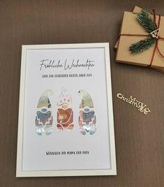 Personalisiertes Geldgeschenk Weihnachten XMAS Wichtel Gnom Nikolaus Weihnachtsmann Cover, Etsy, Mom And Dad, Santa Clause, Cash Gifts