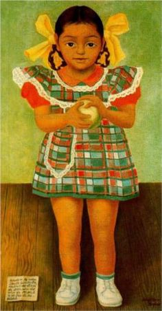Portrait of the Young Girl Elenita Carrillo Flores, Diego Rivera, 1952