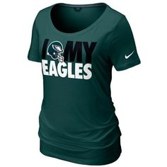 #MyFanaticsWishlist Nike Philadelphia Eagles Women's Team Dedication Tri-Blend T-Shirt - Midnight Green